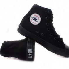 Bascheţi culoare neagra Converse ALL STAR monocrom - Tenisi barbati Converse, Marime: 36, 37, 38, 39, 40, 41, 42, 43, 44, Culoare: Negru