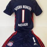 Echipamente portar pentru copii Bayern Munchen - Neuer set fotbal model nou - Set echipament fotbal, Marime: Alta