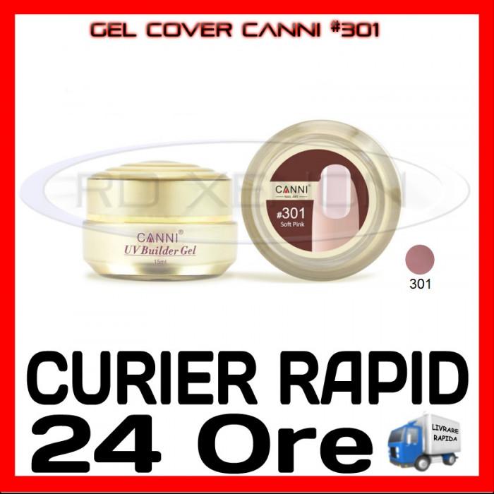 GEL UV COVER CANNI SOFT PINK #301, 15 ML  - CONSTRUCTIE MANICHIURA, UNGHII UV