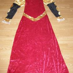 Costum carnaval serbare regina printesa pentru copii de 12-13-14 ani - Costum Halloween, Marime: Masura unica, Culoare: Din imagine