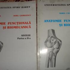 Anatomie functionala si biomecanica 2 vol./228pag- Maria Calb, Dora Gavrilescu - Carte Ortopedie