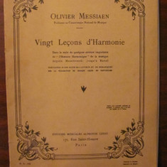 "CY - Olivier MESSIAEN ""20 Lectii de Armonie"" in limba franceza - Partitura"