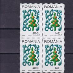 ROMANIA 2000, LP 1537, CRACIUN BLOC DE 4 MNH - Timbre Romania, Nestampilat