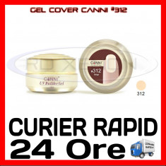 GEL UV COVER CANNI BEIGE #312, 15 ML  - CONSTRUCTIE MANICHIURA, UNGHII UV