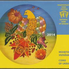 UCRAINA SET MONETARIE 2014, UNC 7 Monede PROOF & Medalie Comemorativa, Europa