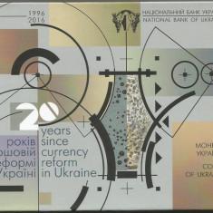 UCRAINA  SET MONETARIE 2016  ,  UNC  8  Monede  PROOF