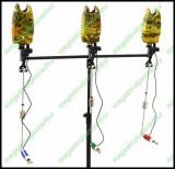 Rod Pod Cu 3 Posturi 3 Swingere Si 3 Senzori / Avertizori Husa Transport Inclusa, Fishing Line - FL