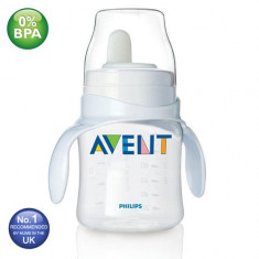 Biberon cu tetina formare Philips Avent 125 ml/4 oz - biberoane 4 luni +, 0-6 luni, Fara BPA