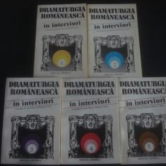 DRAMATURGIA ROMANEASCA IN INTERVIURI 5 volume - Carte Antologie