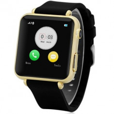 Ceas Smart Watch Elegant Auriu cu Telefon si Camera Spion Nou in Cutie