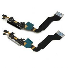 Flex conector incarcator alb negru iPhone 4 4S Black White