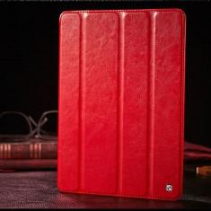 Husa / toc LUX piele fina HOCO Crystal, iPad 2 3 4, smart cover, ROSU - Husa Tableta
