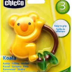 Jucarie zornaitoare dentitie Chicco Koala bebelusi 3 luni +   Inel gingival - Jucarie dentitie copii Chicco, Unisex, Multicolor, Plastic