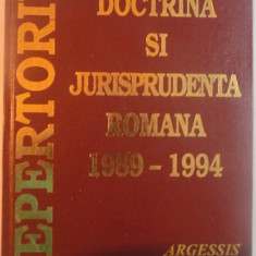REPERTORIU DE DOCTRINA SI JURISPRUNDENTA ROMANA, VOL. I (1989-1994), 1995
