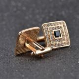Butoni camasa model auriu cristale + cutie simpla cadou