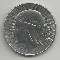 POLONIA 5 ZLOTI 1934, Argint [2] XF, REGINA JADWIGA in cartonas, Europa