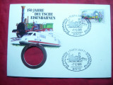 Plic FDC -150 Ani Caile Ferate Germane 1985