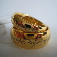 Set Inel Logodna Nobil Lord of the Rings The one Ring din Tungsten - Inel fashion