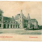 1430 - TIMISOARA, Railway Station - old postcard - used - 1903