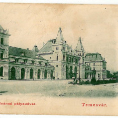 1430 - TIMISOARA, Railway Station - old postcard - used - 1903 - Carte Postala Banat pana la 1904, Circulata, Printata