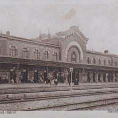 RAMNICUL SARAT, GARA - Carte Postala Muntenia 1904-1918, Ramnicu Sarat, Necirculata, Printata