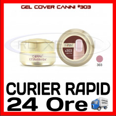 GEL UV COVER CANNI LIGHT PINK #303, 15 ML - CONSTRUCTIE MANICHIURA, UNGHII UV - Gel unghii Canni, Gel de constructie