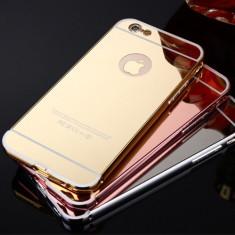Husa / Bumper aluminiu + spate acril oglinda pentru iPhone 7 / iPhone 8