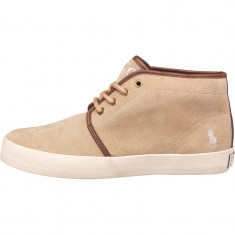 Ghete Ralph Lauren Junior Ethan Suede Boots Tan/Cream nr. 39 si 40 - Ghete barbati Polo By Ralph Lauren, Culoare: Din imagine, Piele intoarsa