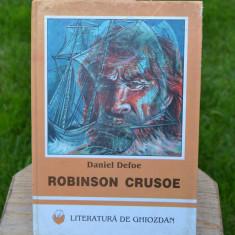 Carte - Robinson Crusoe - Daniel Defoe (Literatura de ghiozdan, VIZUAL 1999) #235 - Carte de povesti