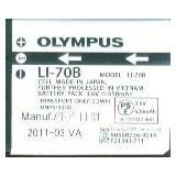 Acumulator Olympus LI-70B 3.6V 650mAh/2.3 Wh