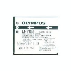 Acumulator Olympus LI-70B 3.6V 650mAh/2.3 Wh - Baterie Aparat foto