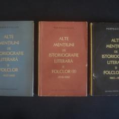 PERPESSICIUS - ALTE MENTIUNI DE ISTORIOGRAFIE LITERARA SI FOLCLOR (1957-1967)