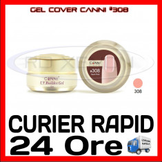 GEL UV COVER CANNI HARD PINK #308, 15 ML  - CONSTRUCTIE MANICHIURA, UNGHII UV