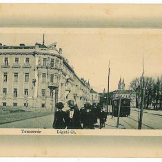 3092 - TIMISOARA, tramway - old postcard - used - 1911 - Carte Postala Banat 1904-1918, Circulata, Printata