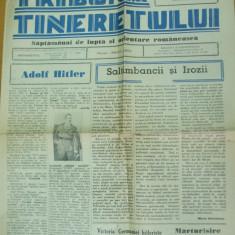 Tribuna tineretului 12 august 1940 Hitler Codreanu A. C. Cuza Horia Sima Ciano - Revista culturale