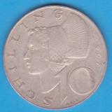 (1) MONEDA DIN ARGINT AUSTRIA - 10 SCHILLING 1967, 7, 5 GRAME, Europa