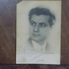 Mihail Vulpescu, Fotografie originala cu dedicatia si semnatura