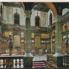 Bnk cp Sinaia - Muzeul Peles - Holul de onoare - circulata, Printata