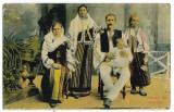 1524 - ETHNIC family - old postcard - unused