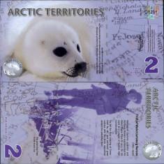 !!! TERITORIILE ARCTICE - 2 DOLARI 2010 - UNC