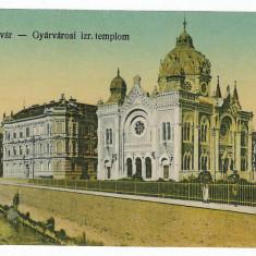 1552 - TIMISOARA, S y n a g o g u e - old postcard - used