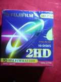 10 Dischete color pt. calculator Fuji Film 2HD IBM