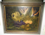 Tablou Natura Statica semnat LDN-ulei pe placaj, pictat clasic., Realism