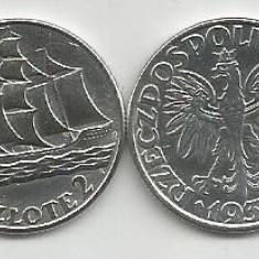 POLONIA 2 ZLOTI ZLOTE 1936, AG [1] XF ++, livrare in cartonas, Europa, Argint