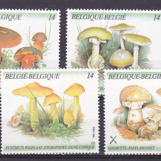 Flora, ciuperci, Belgia. - Timbre straine, Nestampilat