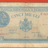 5000 Lei 21 August 1945 F - Bancnota romaneasca