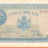 5000 Lei 21 August 1945 UNC - Bancnota romaneasca