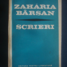 ZAHARIA BARSAN - SCRIERI