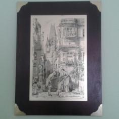 Tablou vechi gravura in metal dupa Der Ewige Hochzeiter - Reproducere