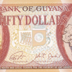 Bancnota Guyana 50 Dolari 2016 - PNew UNC ( comemorativa ) - bancnota america
